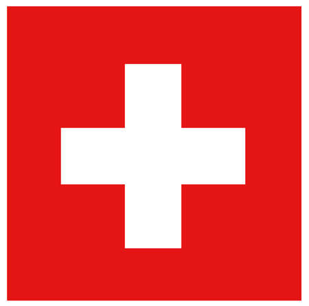 vector illustration of Switzerland flag
