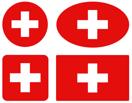 vector illustration of Switzerland flags
