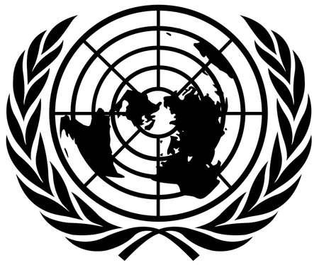 vector illustration of United Nations flag