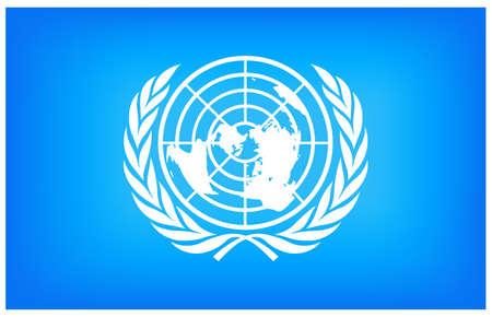 vector illustration of United Nations flag Vector Illustration