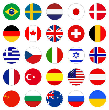vector illustration of World countries flags