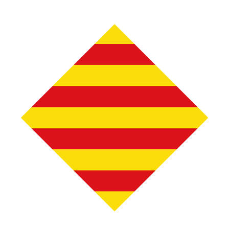 vector illustration of Catalonia flag