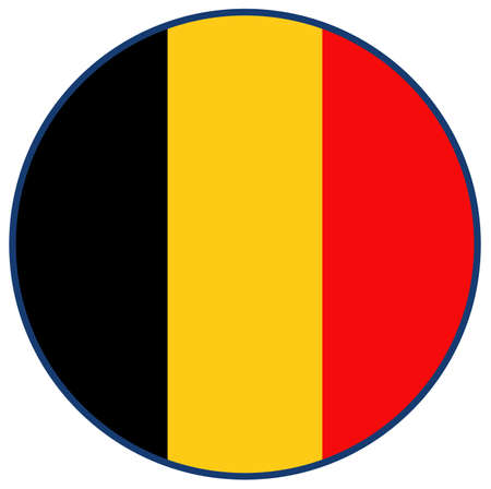vector illustration of Belgium flag