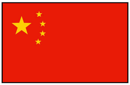 vector illustration of China flag
