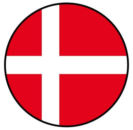 vector illustration of Denmark flag