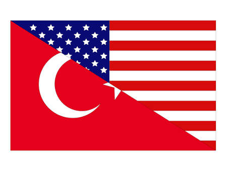 vector illustration of Turkey and United States flag 向量圖像