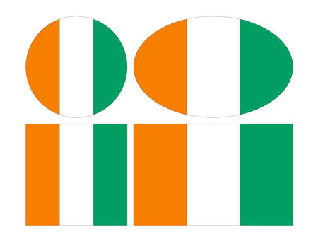 vector illustration of Cote D'Ivoire flags Vectores