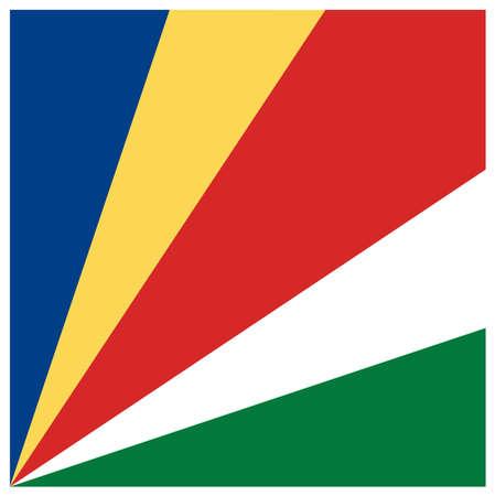 vector illustration of Seychelles flag Иллюстрация
