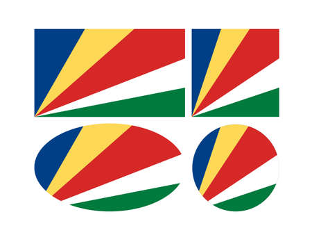 vector illustration of Seychelles flags