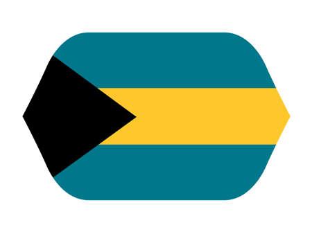vector illustration of Bahamas flag