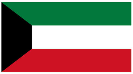 vector illustration of Kuwait flag