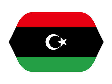 vector illustration of Libyan flag