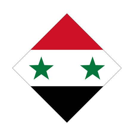 vector illustration of Syrian flag