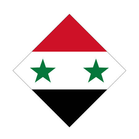 vector illustration of Syrian flag
