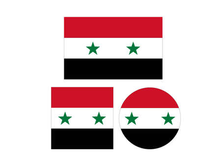 vector illustration of Syrian flags Vectores