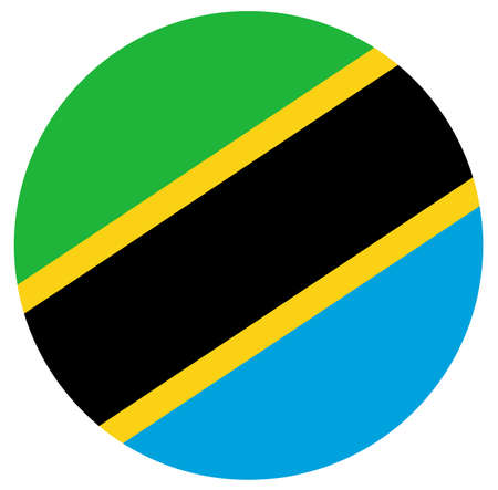 vector illustration of Tanzania flag