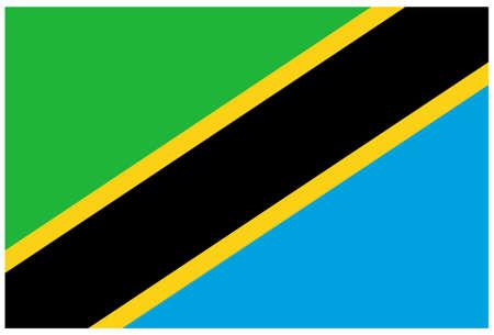 vector illustration of Tanzania flag Vektorgrafik