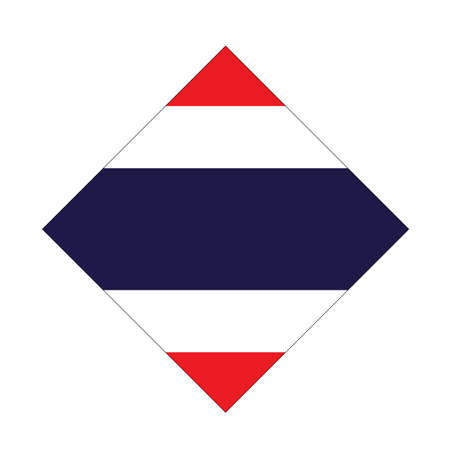 vector illustration of Thailand flag