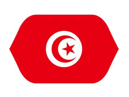 vector illustration of Tunisia flag