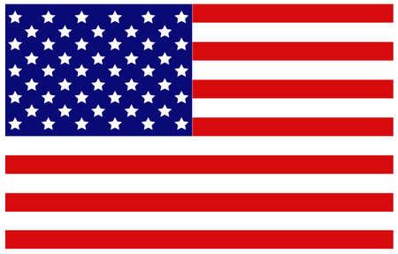 vector illustration of United States flag