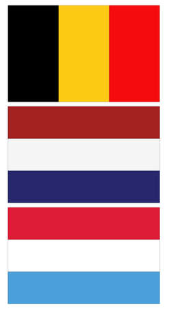vector illustration of Benelux countries flags 向量圖像