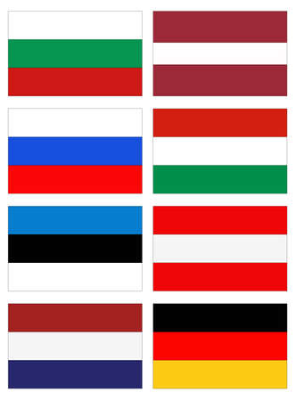 vector illustration of European countries flags 向量圖像