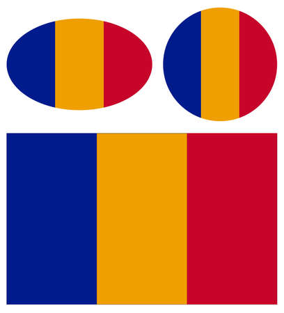 vector illustration of Romania flags