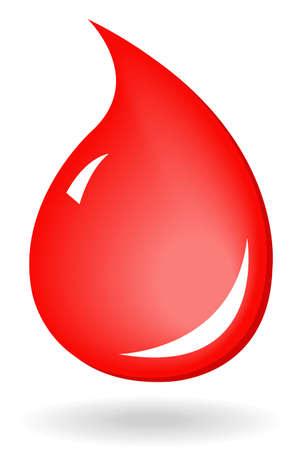 vector illustration of blood drop icon Vektorové ilustrace