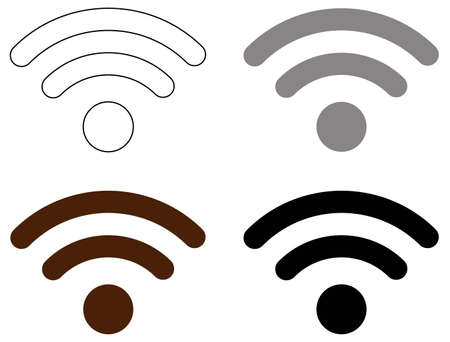 vector illustration of WiFi icons
