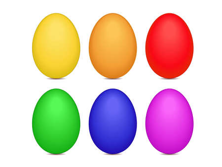 vector illustration of Easter eggs or Paschal eggs