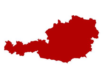 vector illustration of Austria map