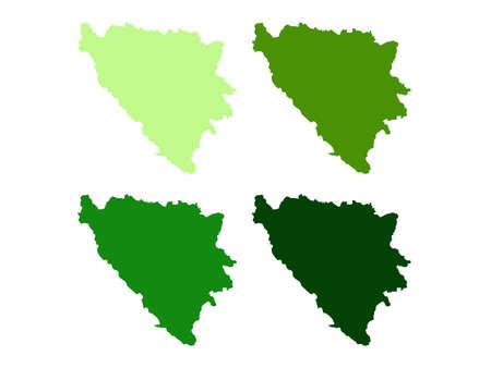vector illustration of Bosnia and Herzegovina map
