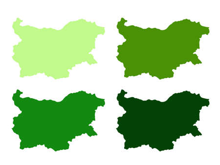 vector illustration of Bulgaria map