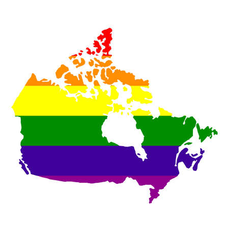 vector illustration of LGBT Canada map