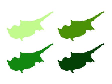 vector illustration of Cyprus map 向量圖像