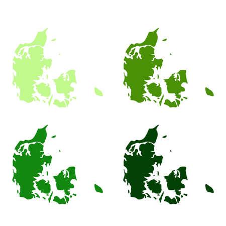 vector illustration of Denmark map