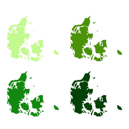 vector illustration of Denmark map Ilustrace