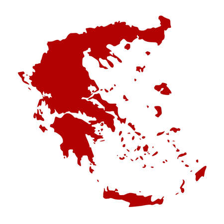 vector illustration of Greece map Archivio Fotografico - 142843874