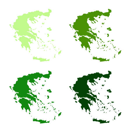 vector illustration of Greece map Archivio Fotografico - 142843879