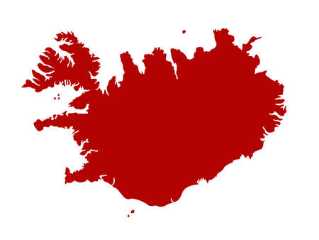 vector illustration of Iceland map