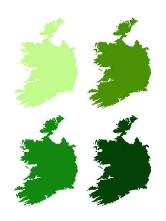 vector illustration of Ireland map Vettoriali