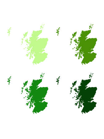 vector illustration of Scotland map