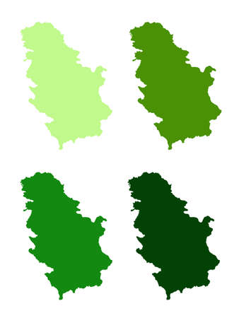vector illustration of Serbia map