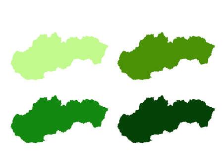 vector illustration of Slovakia map Ilustracja