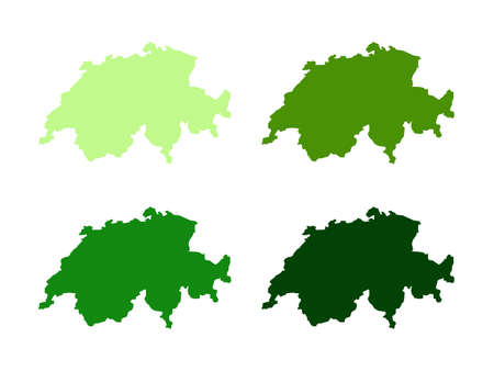vector illustration of Switzerland map Vectores