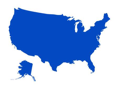 Vektor-Illustration der USA-Karte