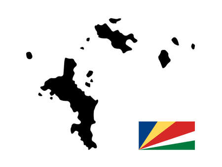 vector illustration of Seychelles map and flag