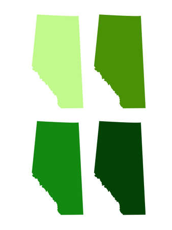 vector illustration of Alberta map, province or territory in Canada