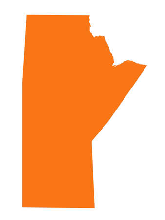 vector illustration of Manitoba map, province or territory in Canada