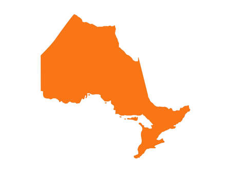 vector illustration of Ontario map, province or territory in Canada 일러스트